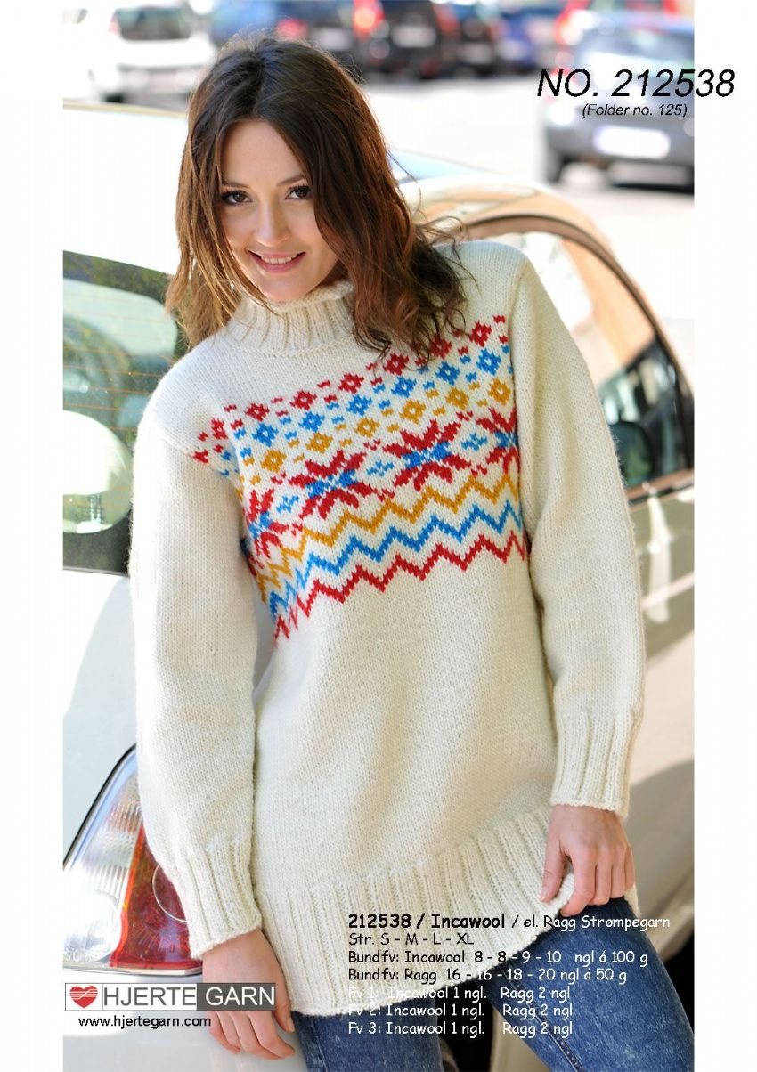 INCAWOOL LONG STAR SWEATER Free Pattern